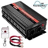 KRIPOL Inversor de Onda sinusoidal Pura 1500W-12V DC a 220/230V AC Inversor Corriente del ...