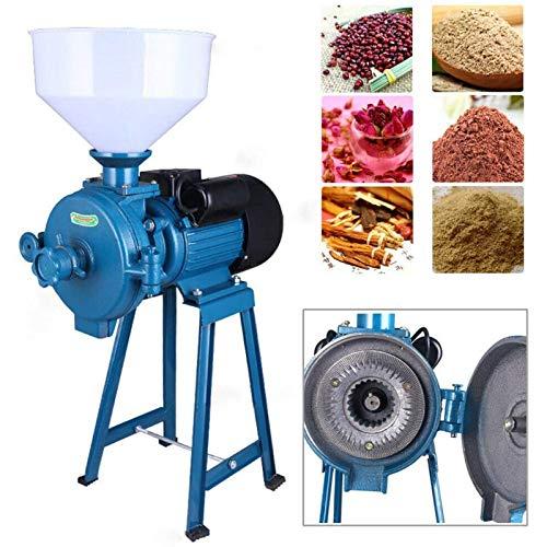 Molino De Harina/Alimentación Eléctrica De 2200 W, Máquina Trituradora De Cereales Secos + Embudo, Arroz, Maíz, Grano, Café, Trigo, Molino De Alimentación, Cereales Secos Húmedos