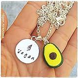 Collar Aguacate Vegano regalo vegano regalo para vegano accesorios veganos que regalar a un vegano amante animales bisuteria vegana