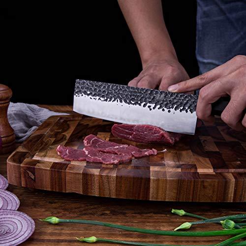 7 inch Nakiri Knife by Findking-Dynasty series-3 layer 9CR18MOV clad steel w/octagon handle Gyuto Knife