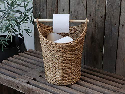 Chic Antique Porta rotolo di carta igienica in rattan