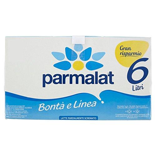 Parmalat Bontà e Linea Latte UHT parzialmente scremato 1lt - confezione da 6 brik