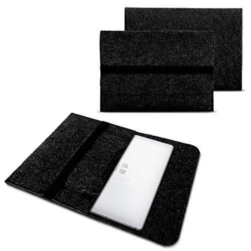 NAUC Laptoptasche Sleeve Schutztasche Hülle für Trekstor Surfbook W1 W2 Netbook Ultrabook 14,1 Zoll Laptop Filz Hülle, Farben:Dunkel Grau