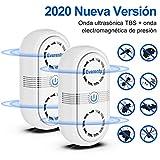 Everenty Repelente Ultrasónico de Plagas [2020 Nueva Versión] Plagas Control Interiores Ahuyentador de Ratones ultrasonidos Ahuyentador de Mosquitos Plagas Cucarachas Ratas Arañas 2 Piezas (Blanco)