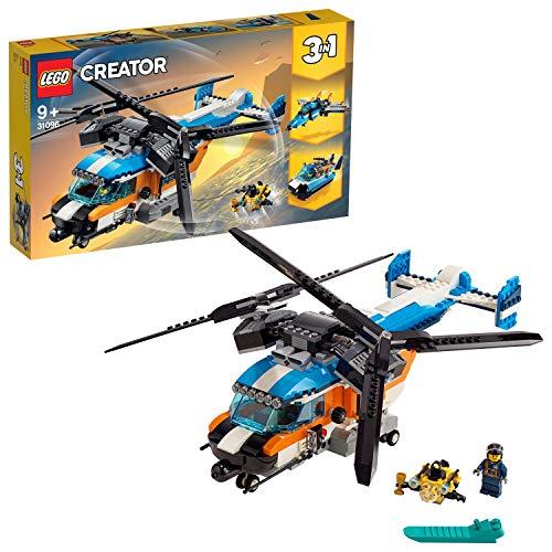 LEGO 31096 Creator 3-in-1 Set: Doppelrotor-Hubschrauber, Jet oder Luftkissenboot