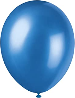 """Unique Party 80086-12"""" Pearlised Latex Cosmic Blue Balloons, Pack of 8"""