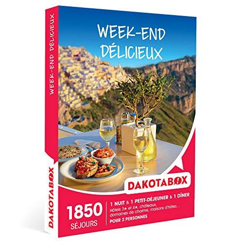 DAKOTABOX - Week-end délicieux - Coffret Cadeau Séjour Gourmand - 1 nuit avec petit-déjeuner et dîner pour 2 personnes