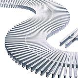 Módulo rejilla transversal para curvas reversible alto 35mm ancho 195mm (45 unidades = 1 metro lineal) AstralPool