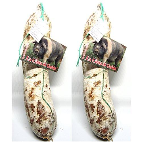 La selvatica di cinta senese - 2 salami da 450g l'uno - Il Toscanicchio
