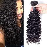 Amella Hair Brazilian Curly Hair One Bundle 24' Unprocessed Virgin Curly Human Hair Natural Black Curly Hair 1 Bundle Natural Black Color