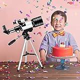 KKTECT Telescopio para Niños Principiantes, Telescopio Astronómico Portátil De 70 Mm con Trípode, Soporte para Teléfono Móvil y Mochila, Niños Inspiren Su Curiosidad