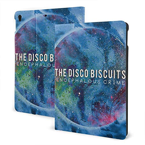 Jamesmall Disco Biscuits Ultra-Thin Shell Leather Protective Cover,Suitable for Ipad 7th 10.2 Inches/Ipad Air 3 and Pro10.5 Inches Multi-Angle Split Vertical Protective Cover Auto Sleep/Wake Up TPU