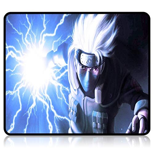 Anime Naruto Gaming Mouse Pad 9.8X11.8X0.12 Inch Stitched Edges Waterproof Mousepad Pixel-Perfect Mouse Mat