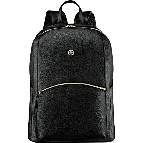 Wenger 610190 LEAMARIE 14' Slim Laptop Backpack, Padded laptop compartment with essential organizer in Black {18 Litres}