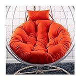 Hängendes Korbstuhl Kissen,Drehsessel Round Schwenksessel Korbsessel Hundekorb Hundesessel Gartensessel Sessel (Color : Orange, Size : 105cm(41inch))