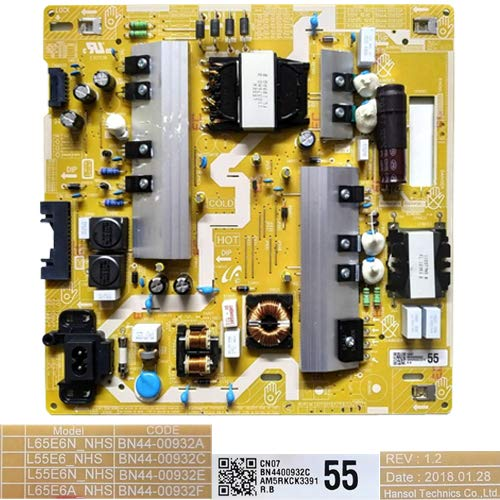 Fuente Alimentación BN44-00932A, BN44-00932C Rev. 1.2, Samsung UE55NU7105K: Amazon.es: Electrónica