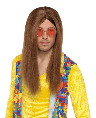 Brown Hippy Wig For Men Long Hippie Wig