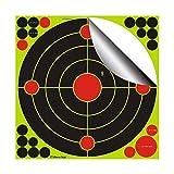 fritz-cell 25 dianas adhesivas tipo 1201 para armas, pistolas de aire, airsoft, BB, diábolo, compatible con objetivos Splatterburst