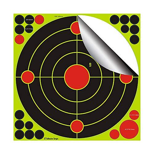fritz-cell 25 Splitterziele Splittersticker Typ 1201 selbstklebend Zielscheibe für alle Gewehre, Pistolen, Luftgewehre, Airsoft, BB, Diabolo kompatibel mit Splatterburst Zielen