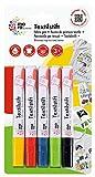 Marabu 043000200 - Textil-/Stoffmalstifte für Kinder in leuchtenden Farben, für helle Stoffe, bis...
