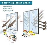 RH Art Sonnenschutzfolie Fenster UV-Schutz Verdunkelungsfolie Sichtschutz Spiegelfolie - Silber, 90 x 200 cm - 5