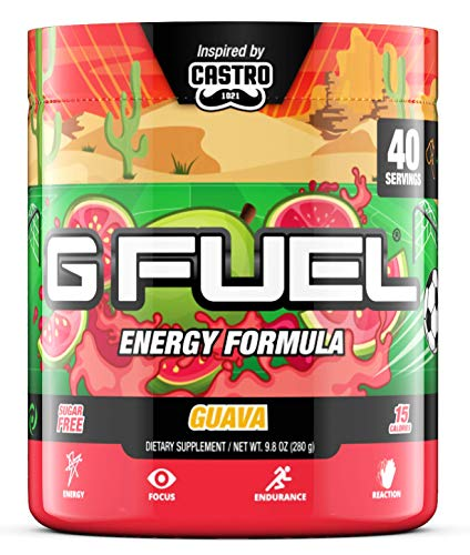 G Fuel Guava (40 Servings) Elite Energy and Endurance Formula 9.8 oz.