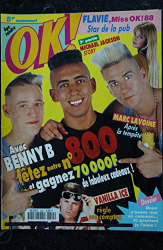 OK ! âge tendre 800 13 au 19 mai 1991 BENNY B - Vanilla Ace - Michael Jackson - Marc Lavoine