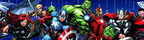 AGDesign Marvel Avengers Selbstklebende Bordüre, Folie, Mehrfarbig, 0,14 x 5 m