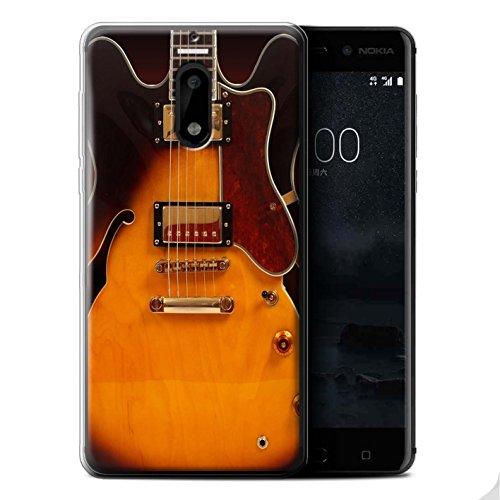 Stuff4® Gel TPU hoes/case voor Nokia 6 / Semi akoestiek patroon/gitaar collectie