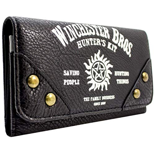 Cartera de Warner Supernatural Kit de cazadores Negro