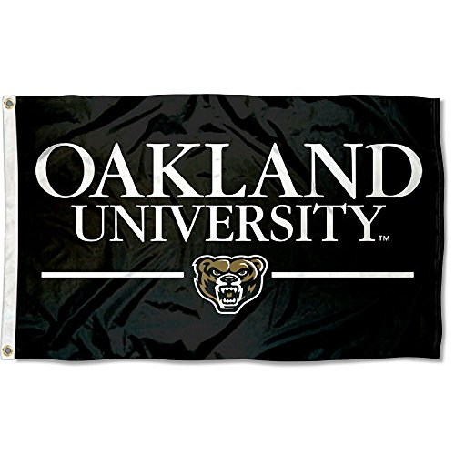 College Flags & Banners Co. Oakland Grizzlies Wordmark Flag