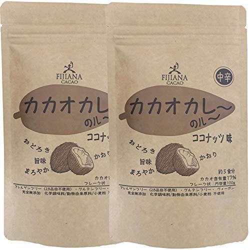 カカオカレー(粉) ココナッツ味 100g 2個セット 米粉 グルテンフリー パーム油不使用 カレー粉 健康食品 フィジー チョコレート フィジーで人気のチョコレート屋さんがつくるカレー