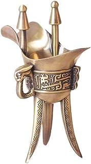 Decanter Whisky Decanter Wine Carafe Ancienne Triangle Coupe Antique Verre Vin Antique Rétro Bronze Jug de vin Bouteille d...
