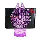 3D Lámpara de Escritorio NHSUNRAY 7 colores LED Touch lámpara de mesa con control remoto para niños cumpleaños regalo de San Valentín de Navidad (Star Wars series)