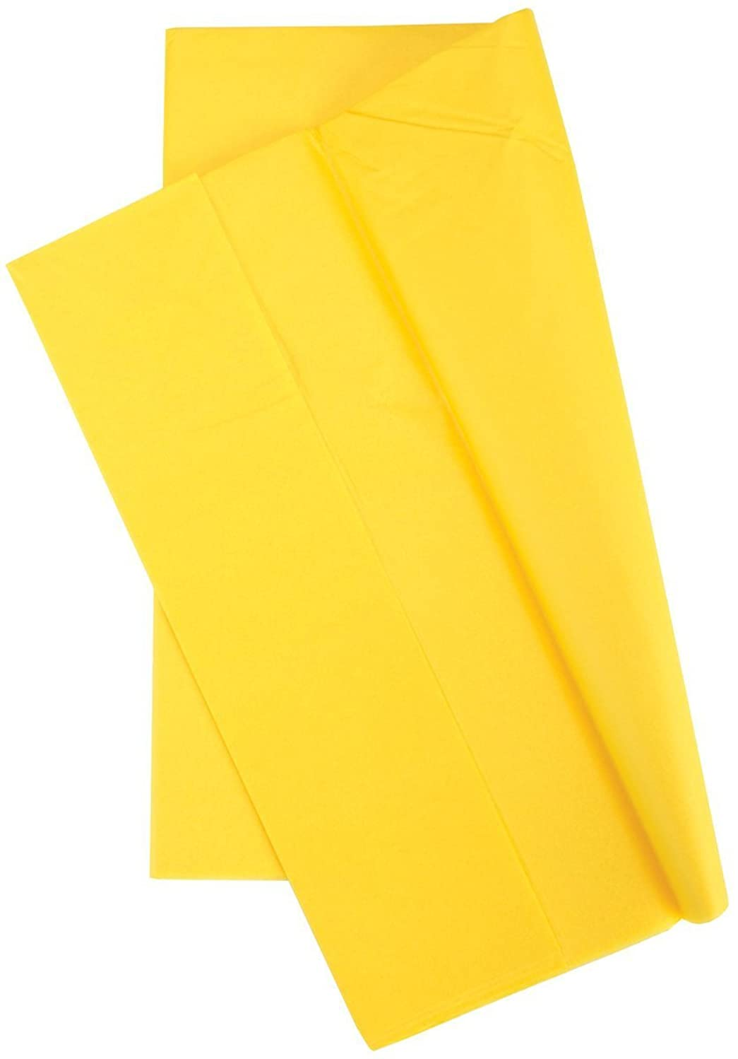 Cindus Tissue Wrap, 20 by 20-Inch, Canary Yellow 10/Pkg - Set of 4