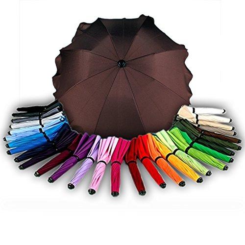 BAMBINIWELT Sonnenschirm für Kinderwagen Ø68cm UV-Schutz50+ Schirm Sonnensegel Sonnenschutz (Braun)