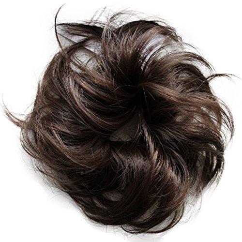 PRETTYSHOP Haarteil Haargummi Hochsteckfrisuren Brautfrisuren Voluminös Leicht Gewellt Unordentlich Dutt Braun G2C