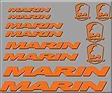 Ecoshirt BF-6LGC-P4MB Pegatinas Set Marin Biclycle R205 Vinilo Adesivi Decal Aufkleber Клей MTB Stickers Bike, Naranja