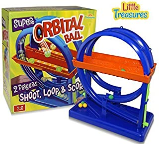 Little Treasures Super Orbit Ball Shoot Game, Mini Arcade Game for Your Home or Office. Great for Game Nights and Family Fun
