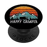 Happy Camper Gift RV Camping Accesorio Retro Sun 70s 80s 80s PopSockets PopGrip Intercambiable