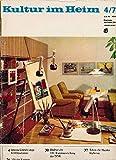 Kultur im Heim 4 1973 Wohnen Möbel DDR