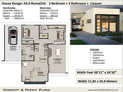 Amazon Com Modern Easy Build 2 Bedroom 2 Bathroom House Plan Full Architectural Concept Home Plans Includes Detailed Floor Plan And Elevation Plans 2 Bedroom House Plans Book 593 Ebook Morris Chris Kindle Store