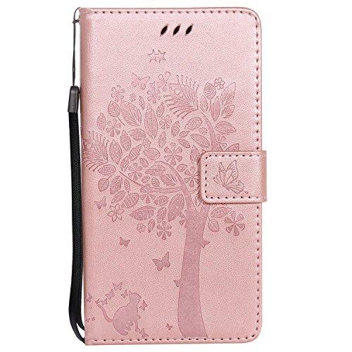 Nancen Compatible avec Sony Xperia Z5 Premium / Z5 Plus Coque Haute Qualité PU Cuir Flip Étui Coque de Protection Wallet/Portefeuille Case Cover Housse - avec Carte de Crédit Fente