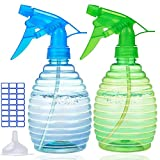 Spray Bottles For Cleaning Solutions (2 Pack,16 Oz) - The Best Water Spray Bottle For Plants - Empty Spray Bottle For Hair - BPA Free - Lightweight and Durable - Adjustable Nozzle - Great Value