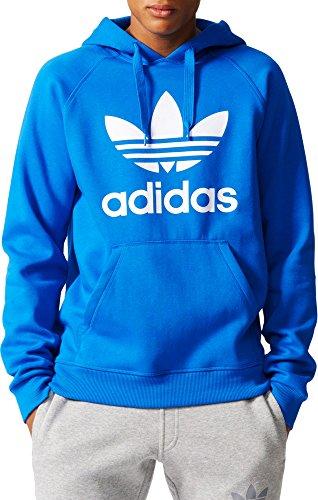 Adidas Originals - Felpa da uomo con cappuccio, con logo con trifoglio del marchio - -...