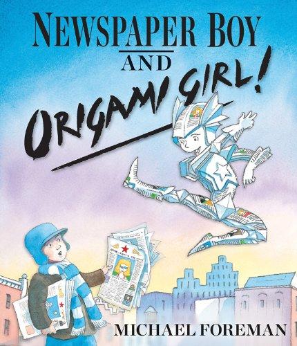 Newspaper Boy and Origami Girl