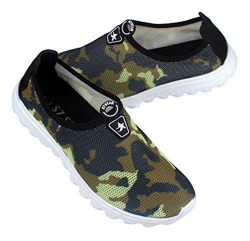 Zapatos Deportes para Hombre,Calzado para Verano sin Cordones,Zapatillas Casuales Transpirables de Fondo Plano para Correr Gimnasio Sneakers Deportivas (1317 Camuflaje, Numeric_42)