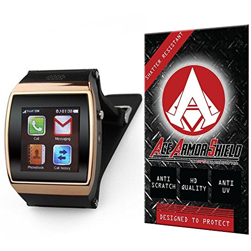 Ace Armor Shield Shatter Resistant Screen Protector for the Flylinktech New L15 Hi Watch Bluetooth Smart Watch / Military Grade / High Definition / Maximum Screen Coverage / Supreme Touch Sensitivity /Dry or Wet Easy Installation with free lifetime replacement warranty