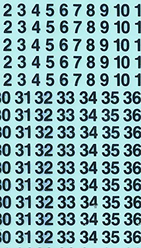 Dry Transfer Sheet Call-Out Numbers, 18pt, Black