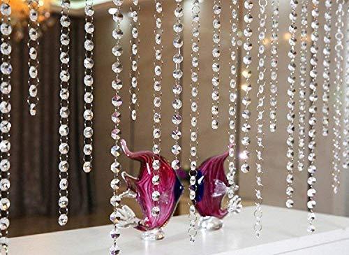 10 x 1m tenda della porta acrilico cristallo ghirlanda perline Octagonal Garland tende appesi ciondolo decorazione del partito di nozze decorazione fai da te